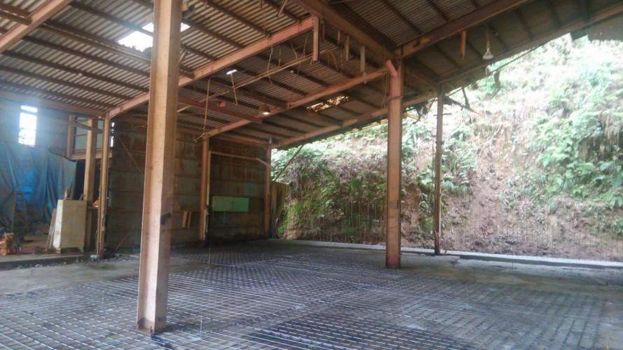 カサネン工業-落合工場新設工事風景(土間の基礎工事)
