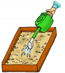 カサネン工業くみあい水稲用育苗培土キングソイル(使い方-灌水(は種前灌水))